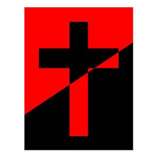 キリスト教の無政府主義者の無秩序のキリスト教の旗 ポストカード