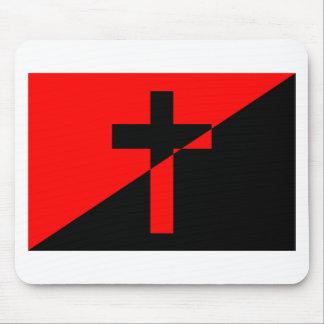キリスト教の無政府主義者の無秩序のキリスト教の旗 マウスパッド