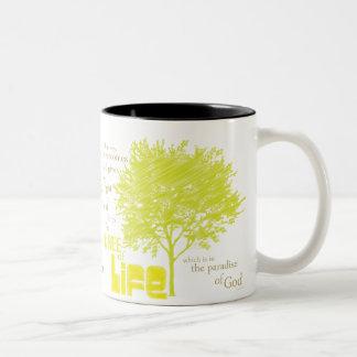 キリスト教の聖なる書物、経典のコーヒー・マグ生命の樹 ツートーンマグカップ