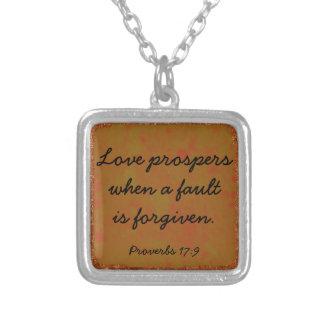キリスト教の聖書の詩の諺のネックレス シルバープレートネックレス