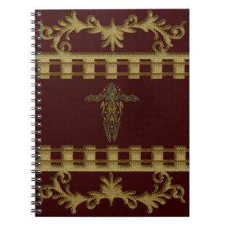 キリスト教の華美な十字15 ノートブック