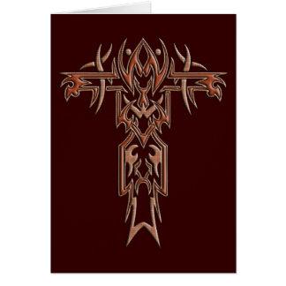 キリスト教の華美な十字4 カード