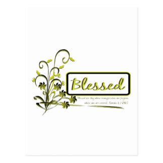 キリスト教の金ゴールドスクロール芸術 ポストカード