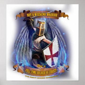 キリスト教の騎士兵士ポスター ポスター