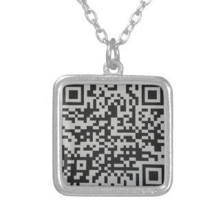 キリスト教のHeadcoveringのコレクションサポートQRコード シルバープレートネックレス