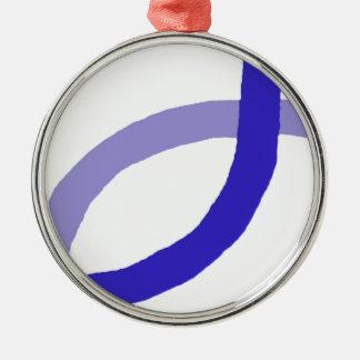 キリスト教プロダクト-青 メタルオーナメント
