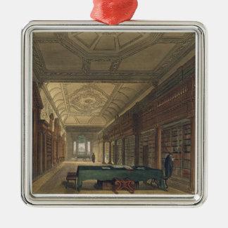 キリスト教会、illustraの図書館のインテリア シルバーカラー正方形オーナメント