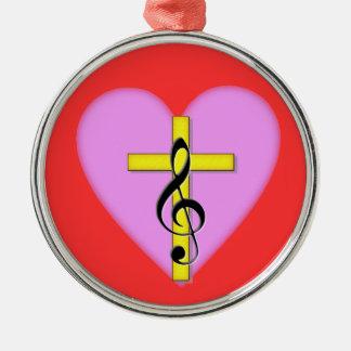 キリスト教音楽の愛 メタルオーナメント