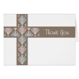 《キリスト教》洗礼式や命名式のサンキューカード|の双生児 カード