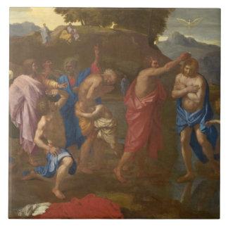 キリスト1641-42年の洗礼 タイル