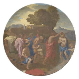 キリスト1641-42年の洗礼 プレート