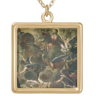 キリスト(フレスコ画)の上昇 ゴールドプレートネックレス
