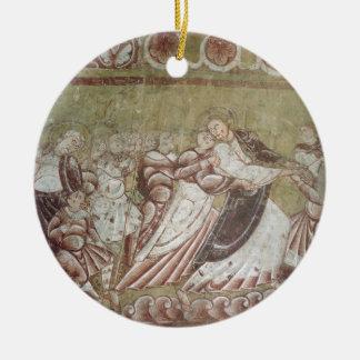 キリスト(フレスコ画) (95750の詳細)に接吻しているJudas セラミックオーナメント