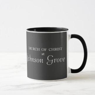 キリスト-冬場面のジョンソン果樹園教会 マグカップ
