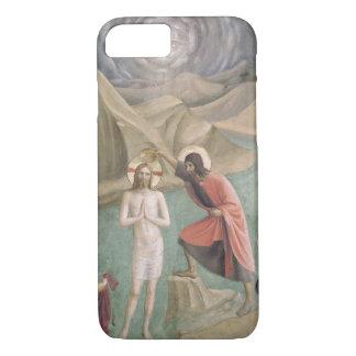 キリスト、c.1438-45 (フレスコ画)の洗礼 iPhone 8/7ケース