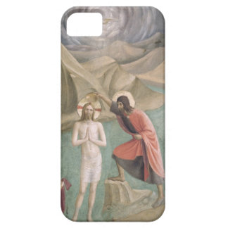 キリスト、c.1438-45 (フレスコ画)の洗礼 iPhone SE/5/5s ケース