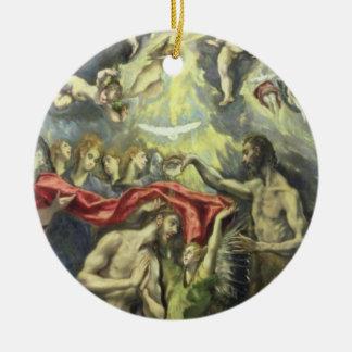キリスト、c.1597 (キャンバスの油)の洗礼 セラミックオーナメント