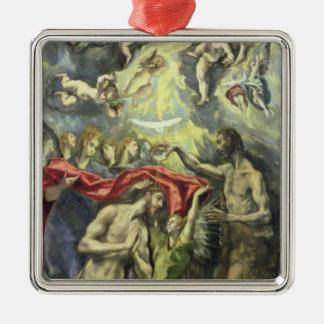 キリスト、c.1597 (キャンバスの油)の洗礼 メタルオーナメント
