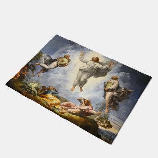 キリスト- Raphaello Sanzio 1520年の変容 ドアマット