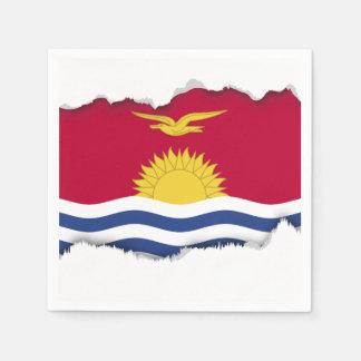 キリバス共和国の旗 スタンダードカクテルナプキン