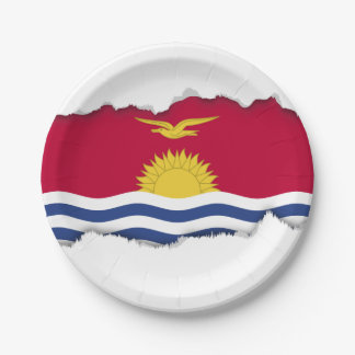 キリバス共和国の旗 ペーパープレート