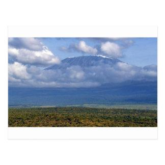 キリマンジャロタンザニアの陸標の景色 ポストカード