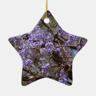 キリモドキの木の青い花 セラミックオーナメント