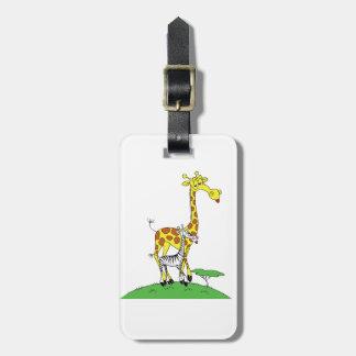 キリンおよびシマウマの荷物のラベル ラゲッジタグ
