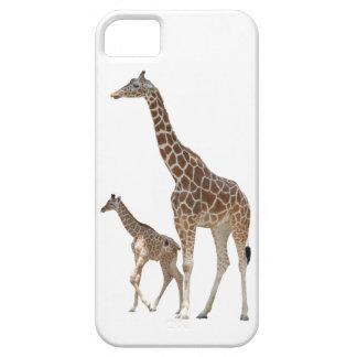 キリンのお母さんおよびベビーのiPhone 5の場合 iPhone SE/5/5s ケース