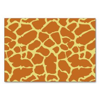 キリンのアニマルプリントのオレンジ黄色のデザイン カード