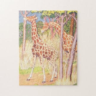 キリンのイラストレーションのヴィンテージの児童図書 ジグソーパズル