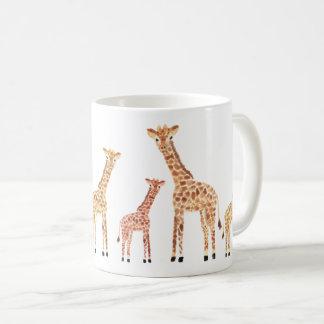 キリンのサファリのプリント コーヒーマグカップ