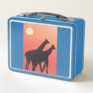 キリンのデザインのお弁当箱 メタルランチボックス
