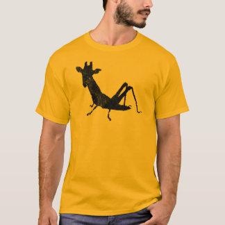 キリンのバッタの野生の融合の動揺してなティー Tシャツ