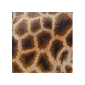 キリンのパッチによって斑点を付けられる皮の質のテンプレート ウッドウォールアート