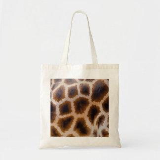 キリンのパッチによって斑点を付けられる皮の質のテンプレート トートバッグ
