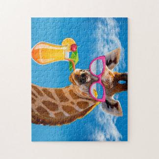 キリンのビーチ-おもしろいなキリン ジグソーパズル