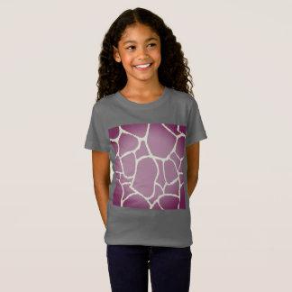 キリンのプリントとのデザイナーTシャツの灰色 Tシャツ