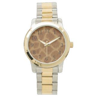 キリンのプリントの腕時計 腕時計