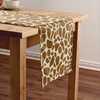 キリンのプリントパターン ショートテーブルランナー