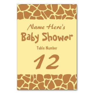 キリンのベビーシャワー カード