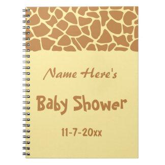 キリンのベビーシャワー ノートブック