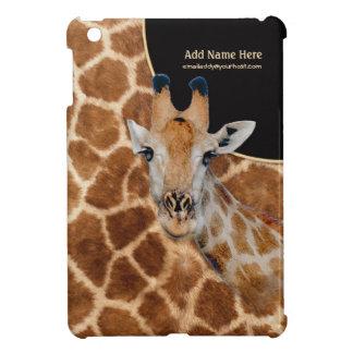キリンのポートレートおよび毛皮-カスタマイズ iPad MINIケース