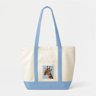 キリンのポートレートのバッグ-スタイルを選んで下さい トートバッグ