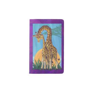 キリンのママおよび赤ん坊 ポケットMoleskineノートブック