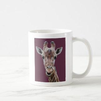 キリンの切り出しのプラム コーヒーマグカップ