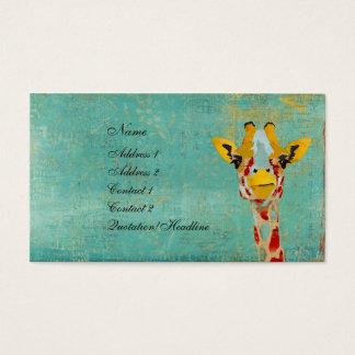 キリンの名刺かラベルをかいま見る金ゴールド 名刺