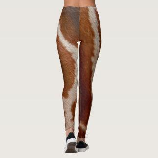 キリンの毛皮|の野生のアニマルプリントパターン レギンス