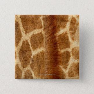 キリンの毛皮 5.1CM 正方形バッジ
