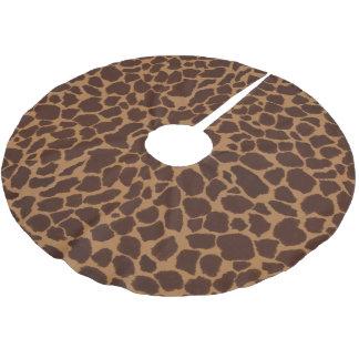 キリンの皮のプリントパターンは個人化なります ブラッシュドポリエステルツリースカート